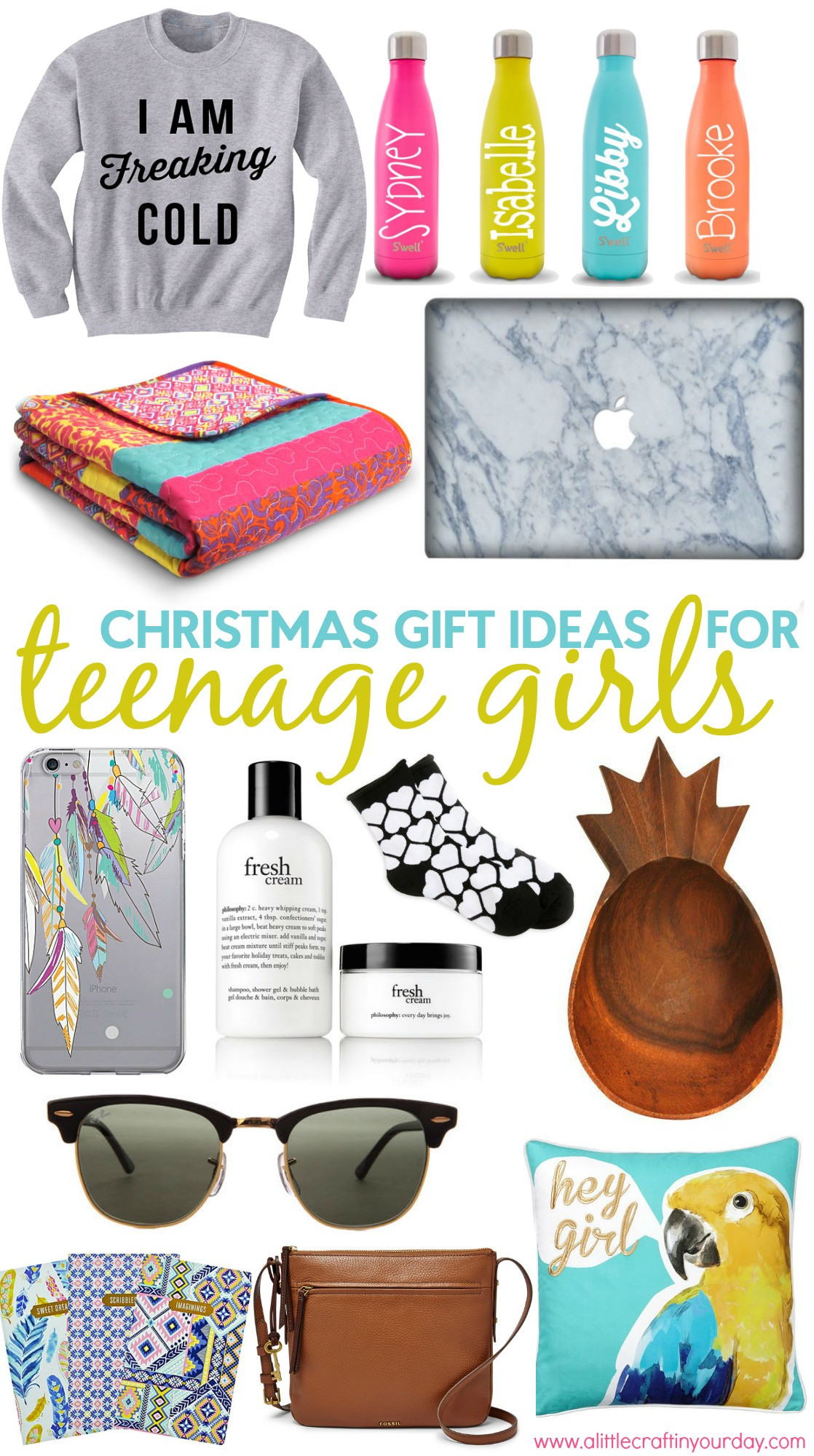 Best ideas about Teenage Girlfriend Gift Ideas . Save or Pin Christmas Gift Ideas for Teen Girls A Little Craft In Now.