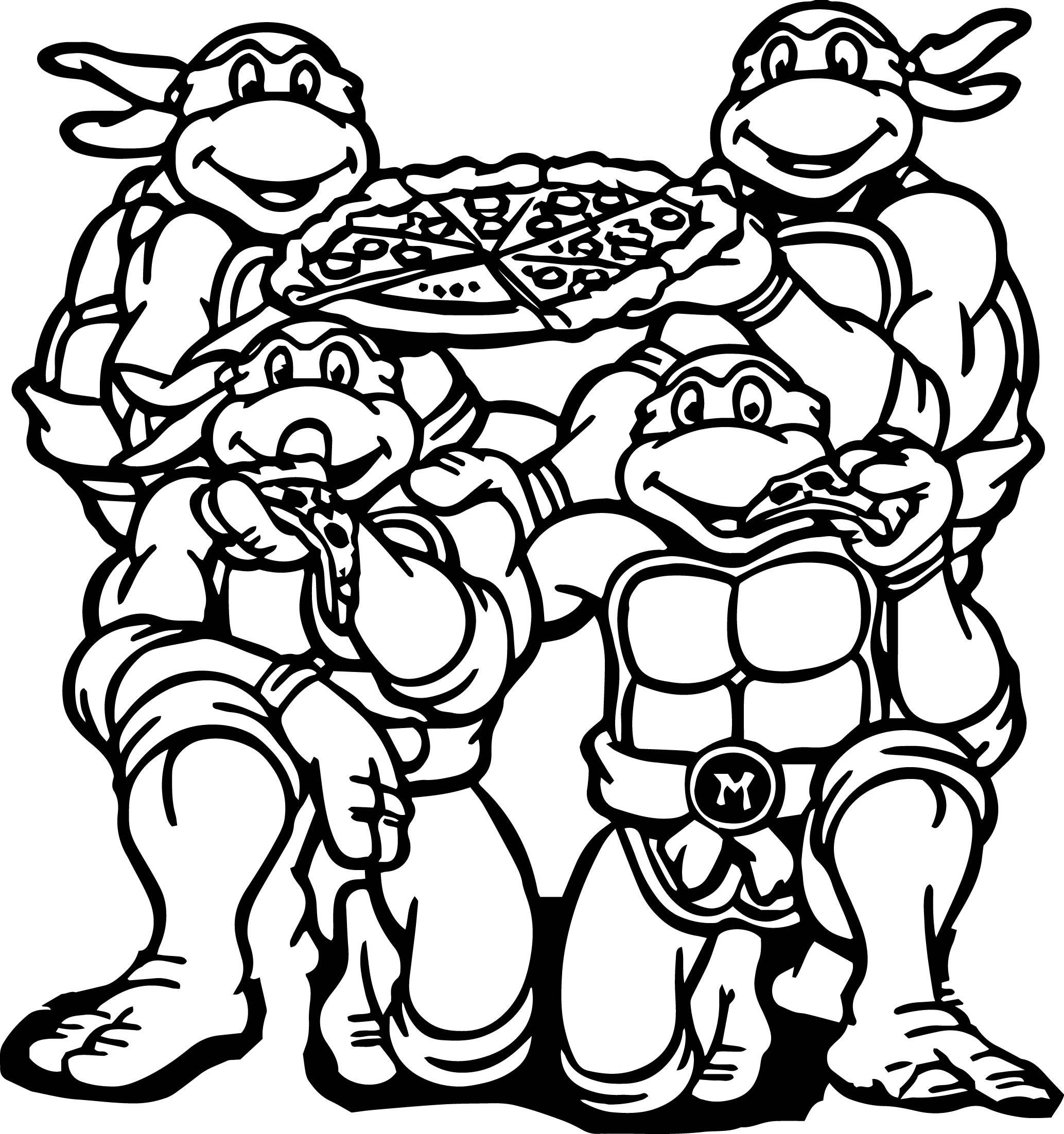 Teenage Mutant Ninja Turtles Coloring Book  Teenage Mutant Ninja Turtle Coloring Pages coloringsuite