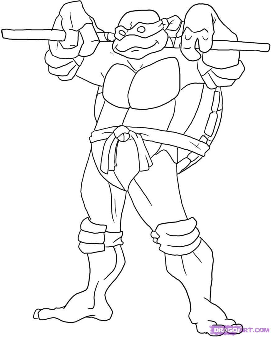 Teenage Mutant Ninja Turtles Coloring Book  Rocksteady Tmnt 2015 Coloring Pages Coloring Pages