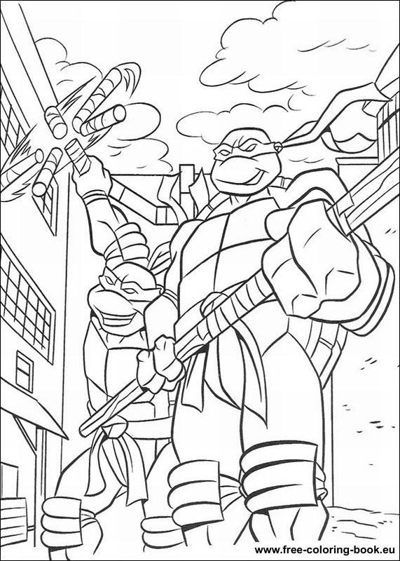 Teenage Mutant Ninja Turtles Coloring Book  Coloring pages Teenage Mutant Ninja Turtles TMNT Page