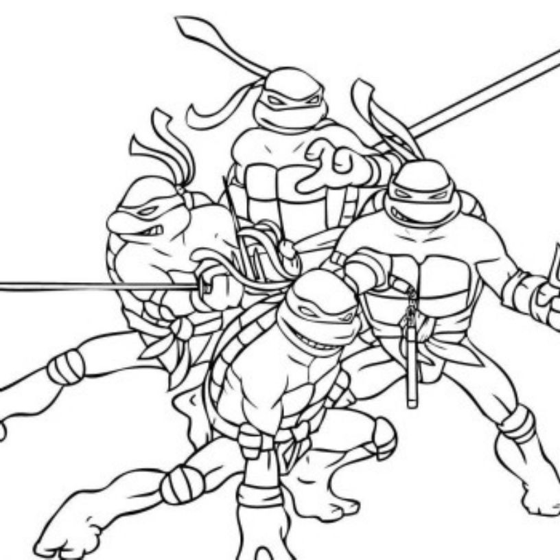 Teenage Mutant Ninja Turtles Coloring Book  Print & Download The Attractive Ninja Coloring Pages for