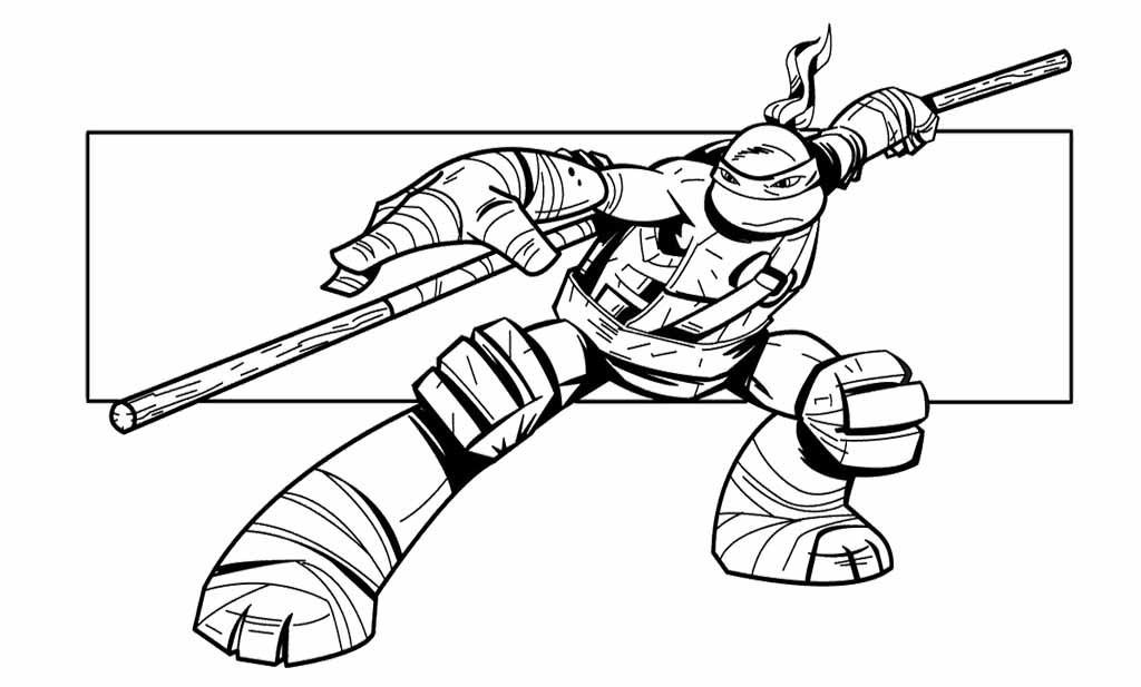Teenage Mutant Ninja Turtles Coloring Book  Ninja Turtle Coloring Page Teenage Mutant Turtles