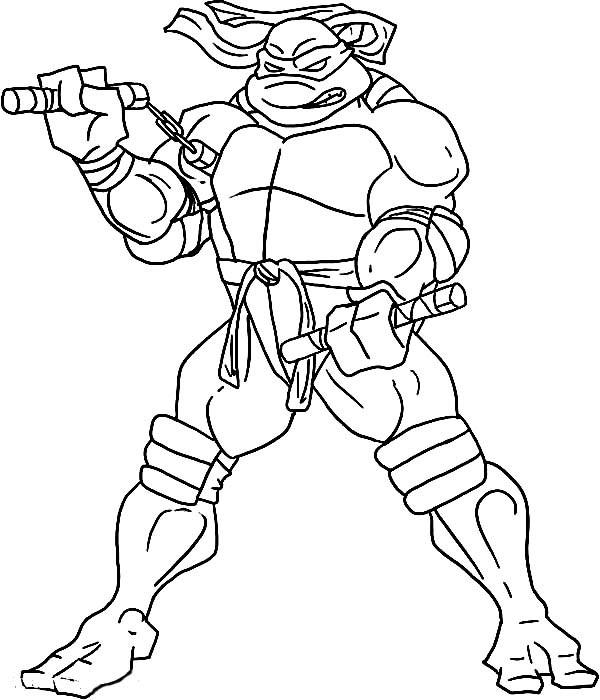 Teenage Mutant Ninja Turtles Coloring Book  Teenage Mutant Ninja Turtles Coloring Pages Michelangelo