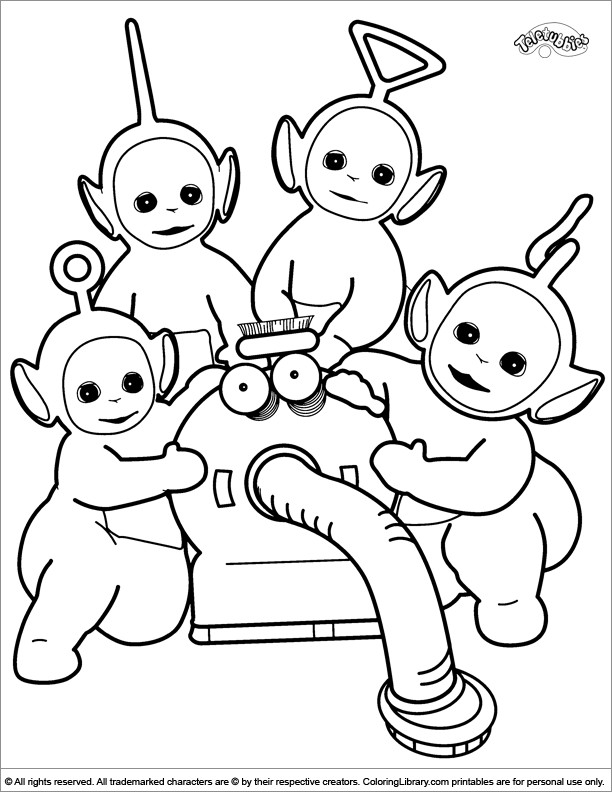 Teletubbies Printable Coloring Pages  Cute Teletubbies coloring page
