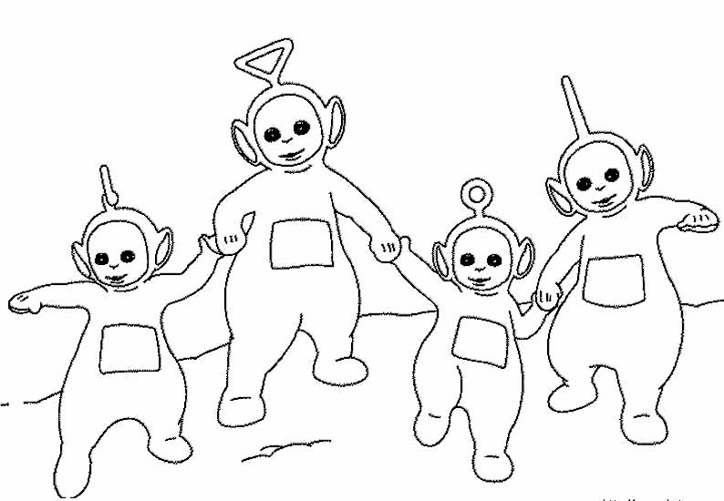 Teletubbies Printable Coloring Pages  teletubbies coloring pages Teletubbies