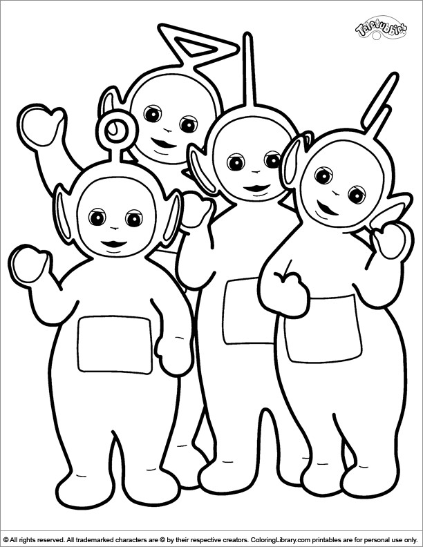 Teletubbies Printable Coloring Pages  Teletubbies Coloring Pages