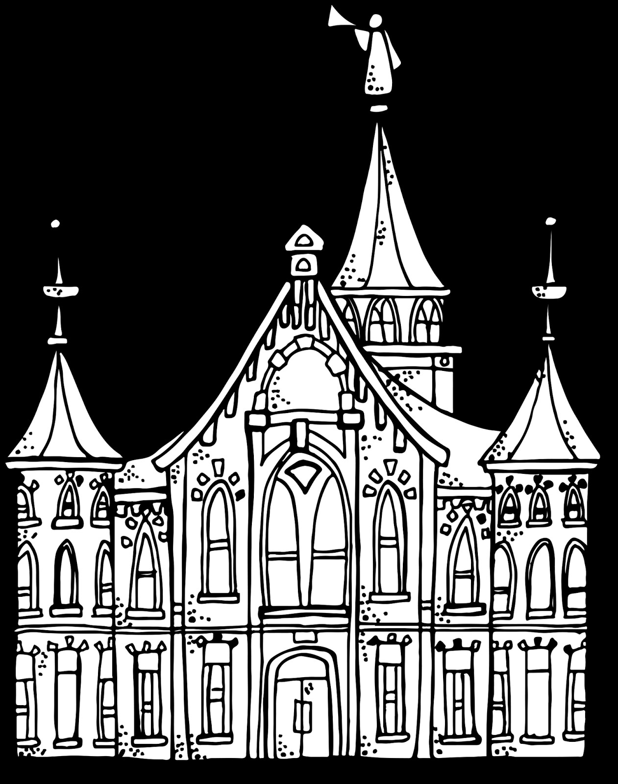 Temple Coloring Pages  Melonheadz LDS illustrating Provo City Center Temple