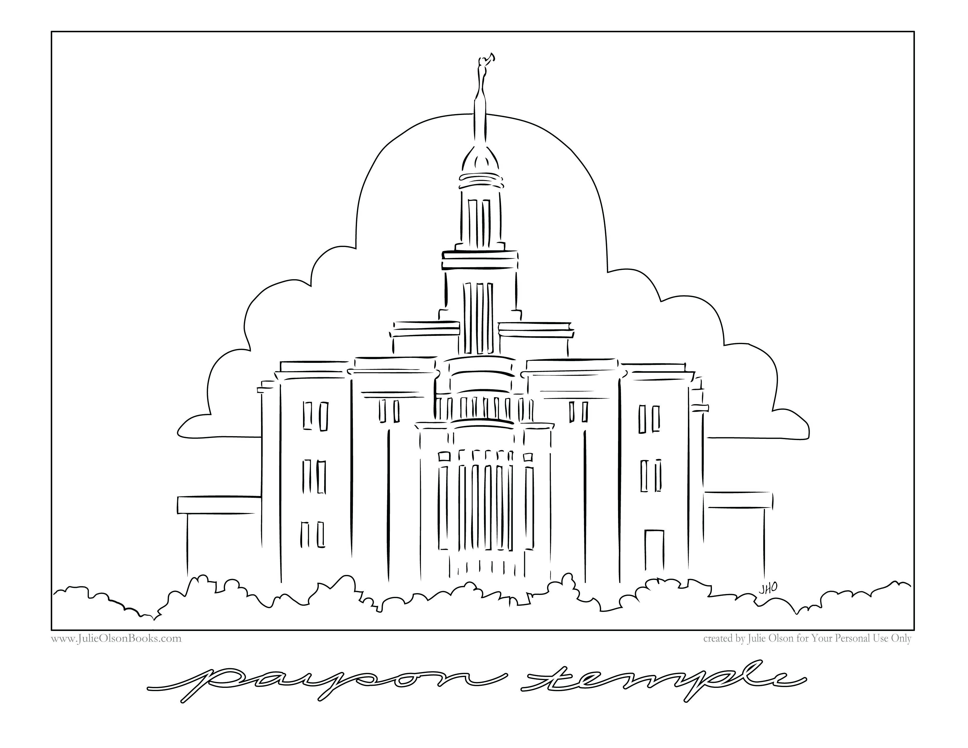 Temple Coloring Pages  Mesa Temple Coloring Page thekindproject