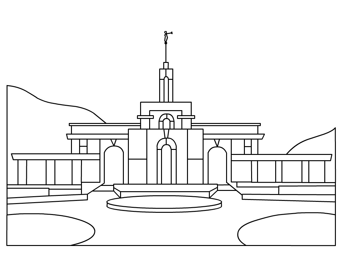 Temple Coloring Pages  LDS Temple Clip Art – My CTR Ring