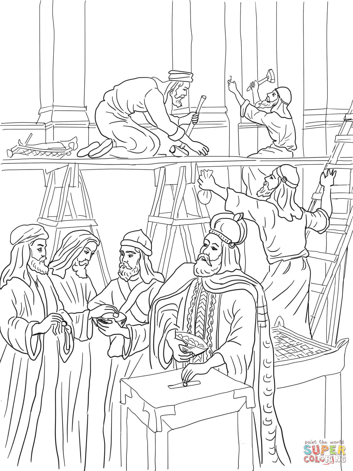 Temple Coloring Pages  Solomons Temple Coloring Page