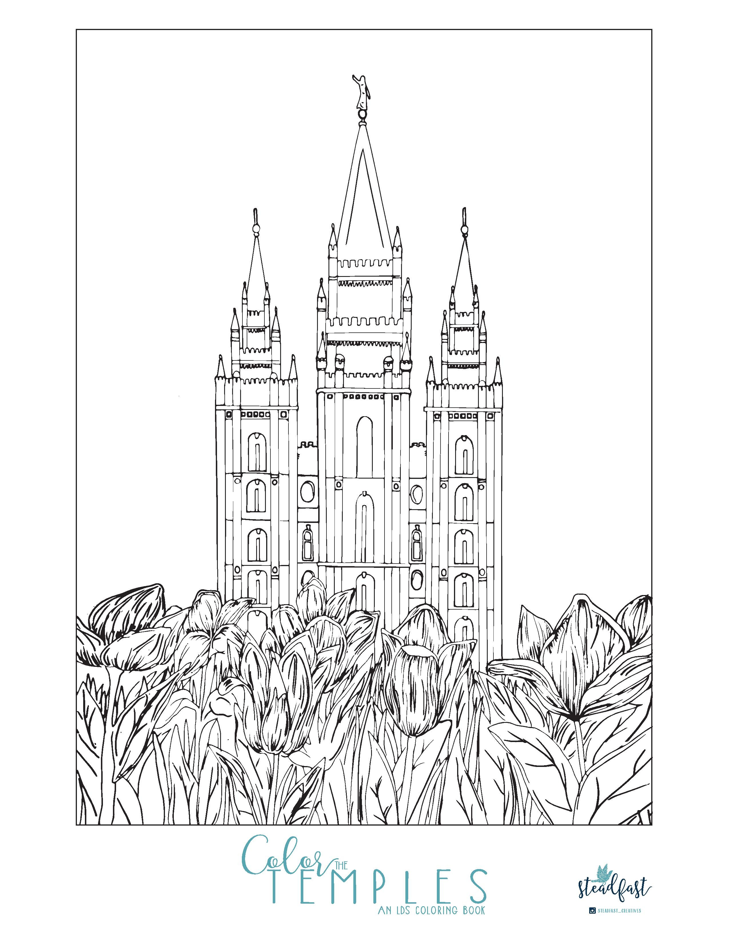 Temple Coloring Pages  Enjoy this Beautiful Free Temple Coloring Page