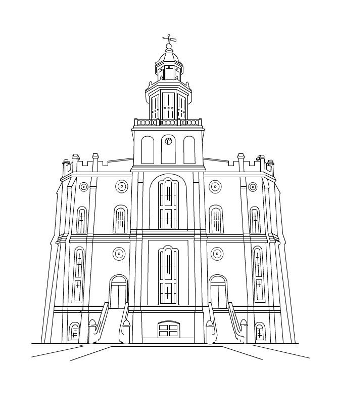 Temple Coloring Pages  free lds clipart to color for primary children
