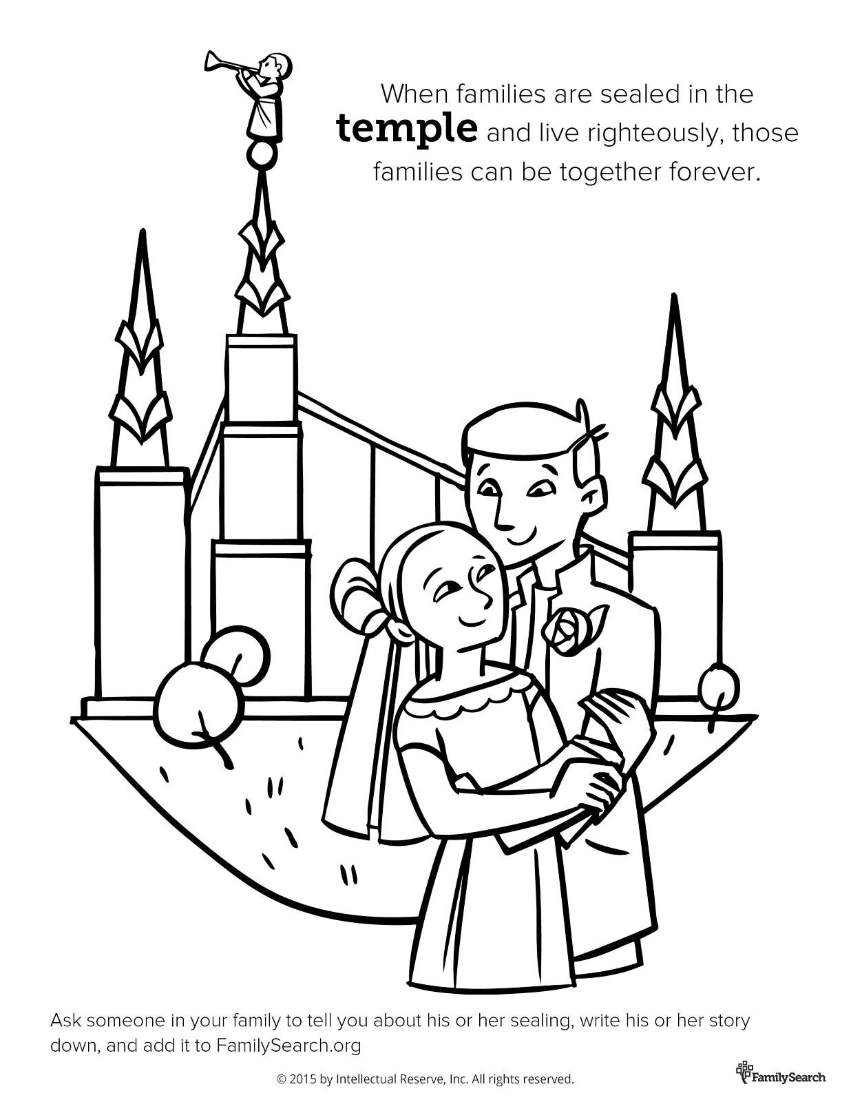 Temple Coloring Pages  lds temple coloring pages