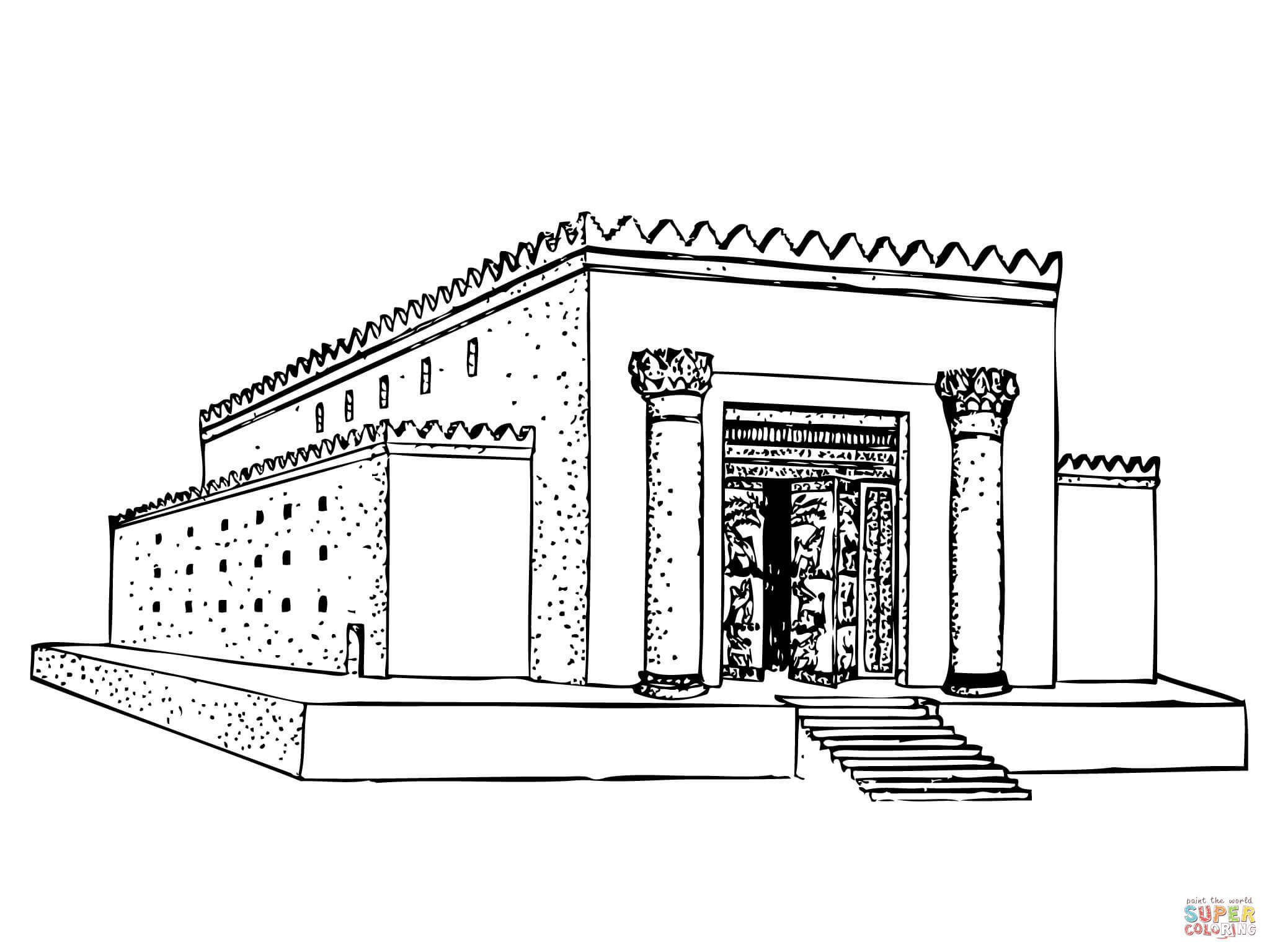 Temple Coloring Pages  Solomon Temple coloring page