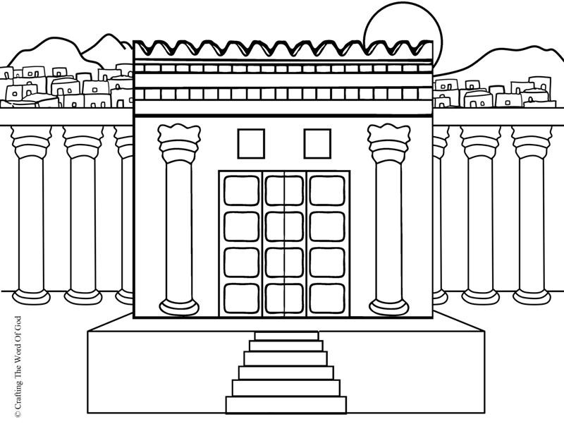 Temple Coloring Pages  Rebuilding The Temple Crafting The Word God