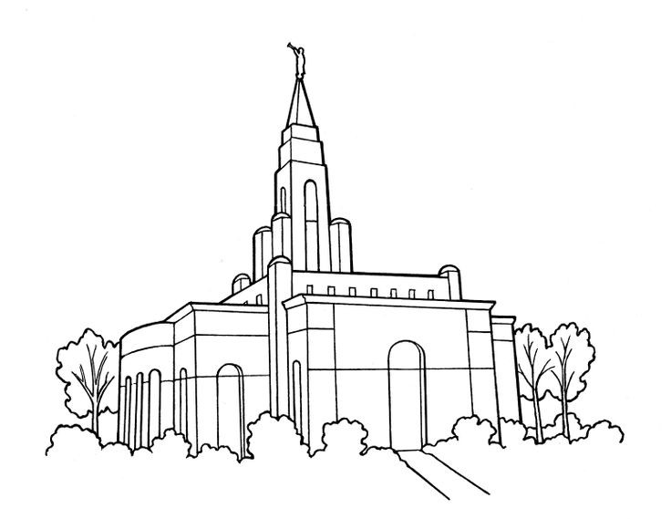 Temple Coloring Pages  LDS Temple Primary Coloring Page LdsPrimary