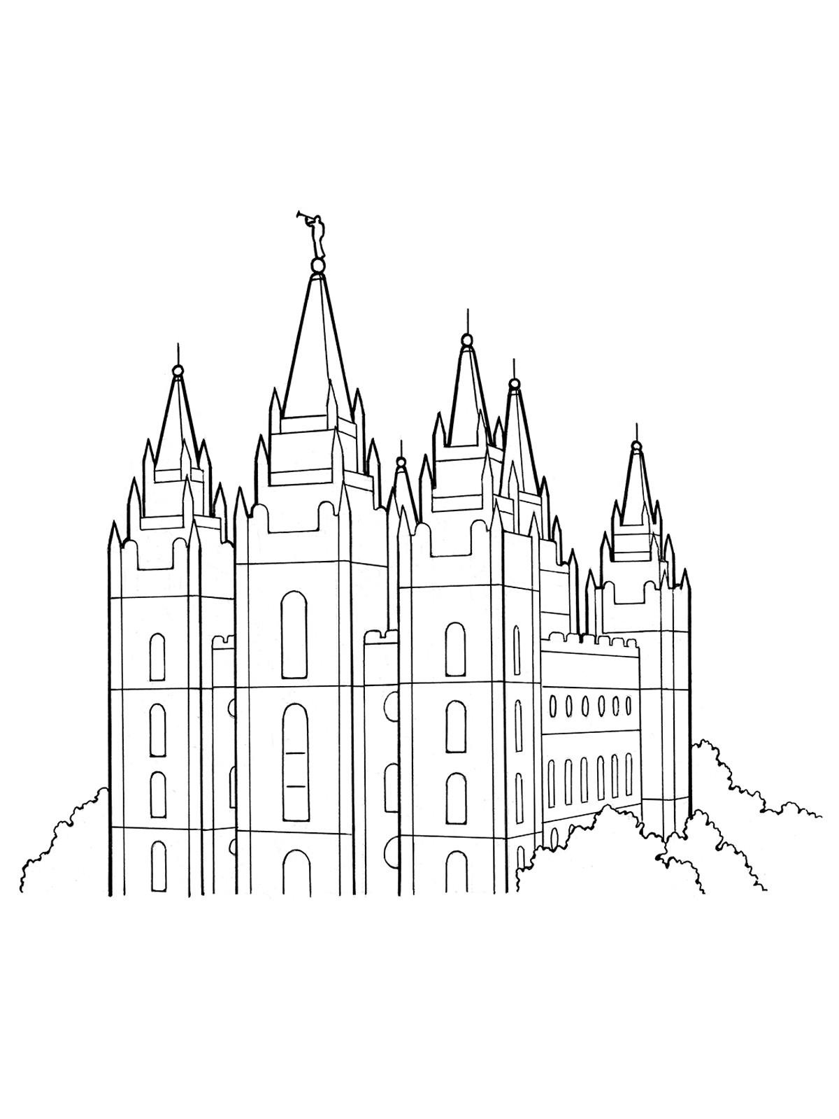 Temple Coloring Pages  Our Deseret Homeschool Gospel Basics 38 Week Lesson Plan