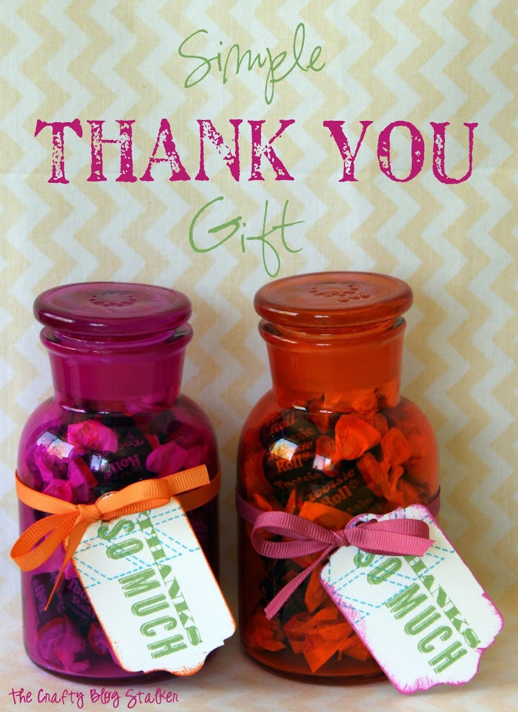Thank Gift Ideas  Simple Thank You Gift The Crafty Blog Stalker