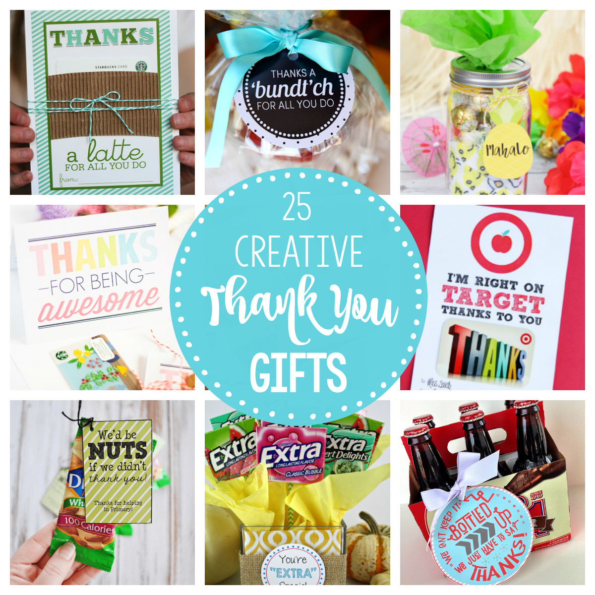 Thank Gift Ideas  25 Creative & Unique Thank You Gifts – Fun Squared