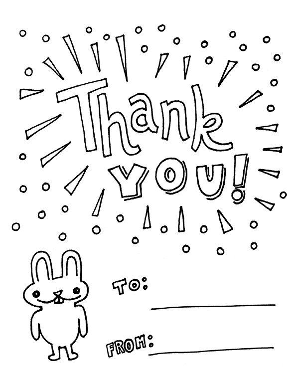 Thank You Coloring Sheets For Girls  thank you coloring pages