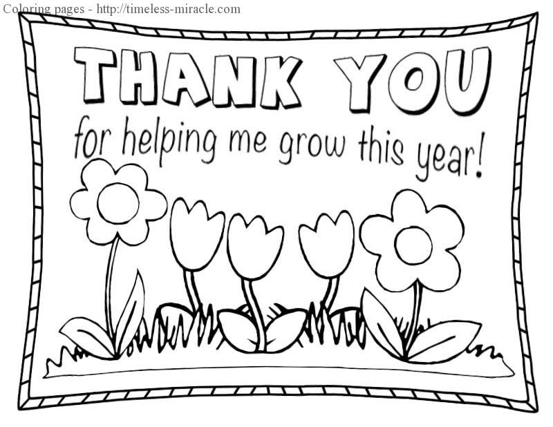 Thank You Coloring Sheets For Girls  Thank you coloring sheets timeless miracle