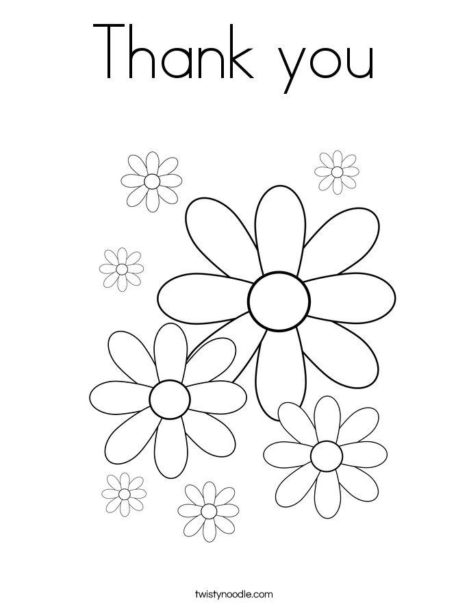 Thank You Coloring Sheets For Girls  Thank You Coloring Pages For Kids Coloring Home