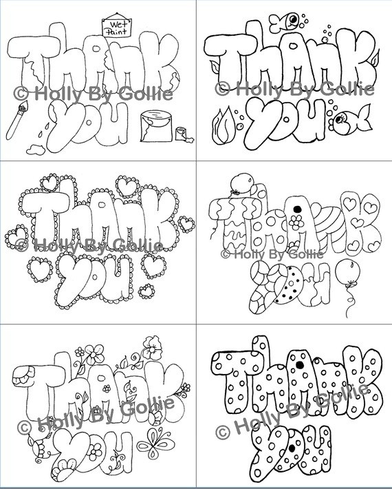 Thank You Coloring Sheets For Girls  29 best Thank yous images on Pinterest
