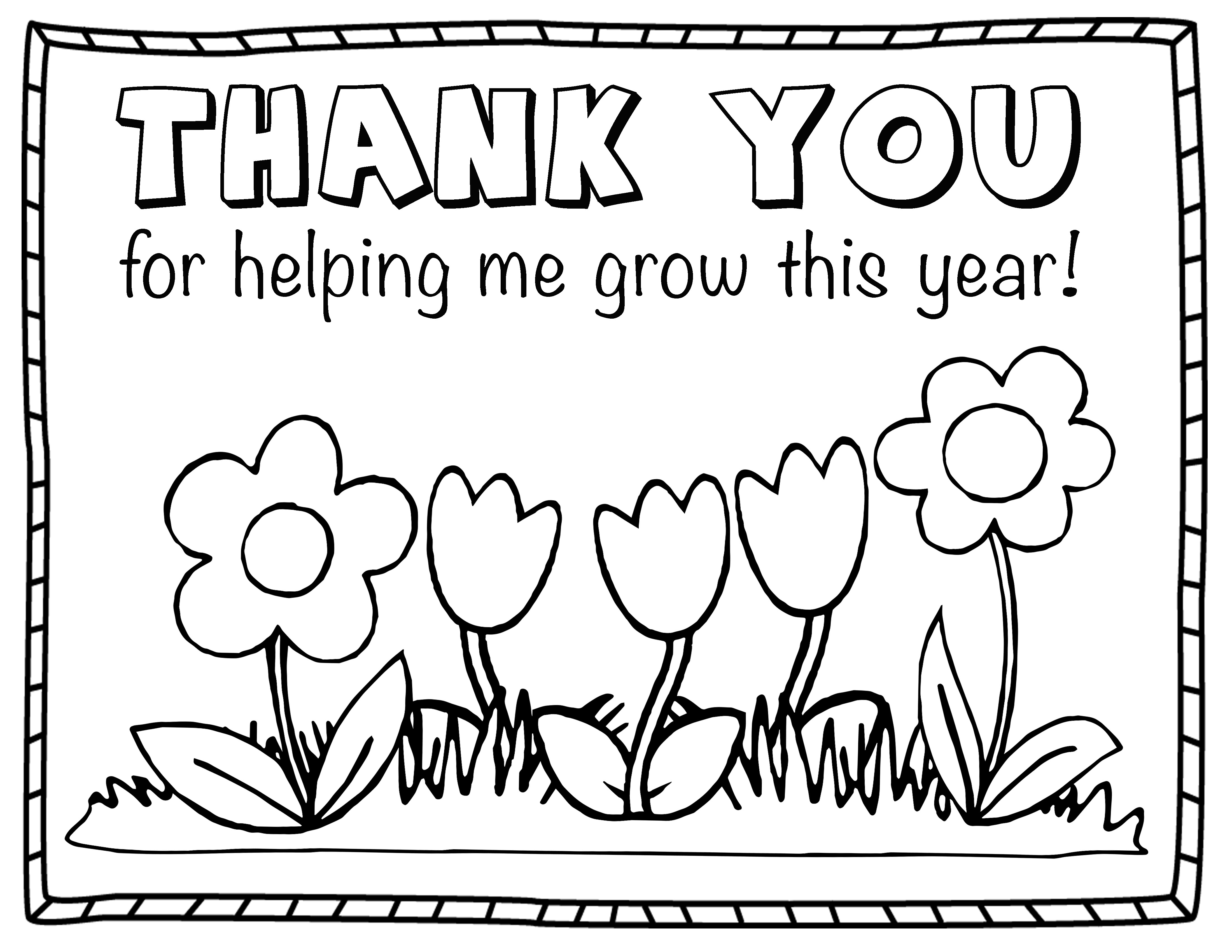 Thank You Coloring Sheets For Girls  Thank You Coloring Pages coloringsuite