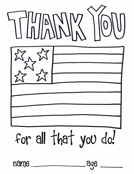 Thank You Coloring Sheets For Girls  National Law Enforcement Appreciation Day