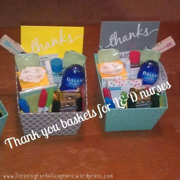Thank You Delivery Gift Ideas  Thank You Gifts for L&D Nurses