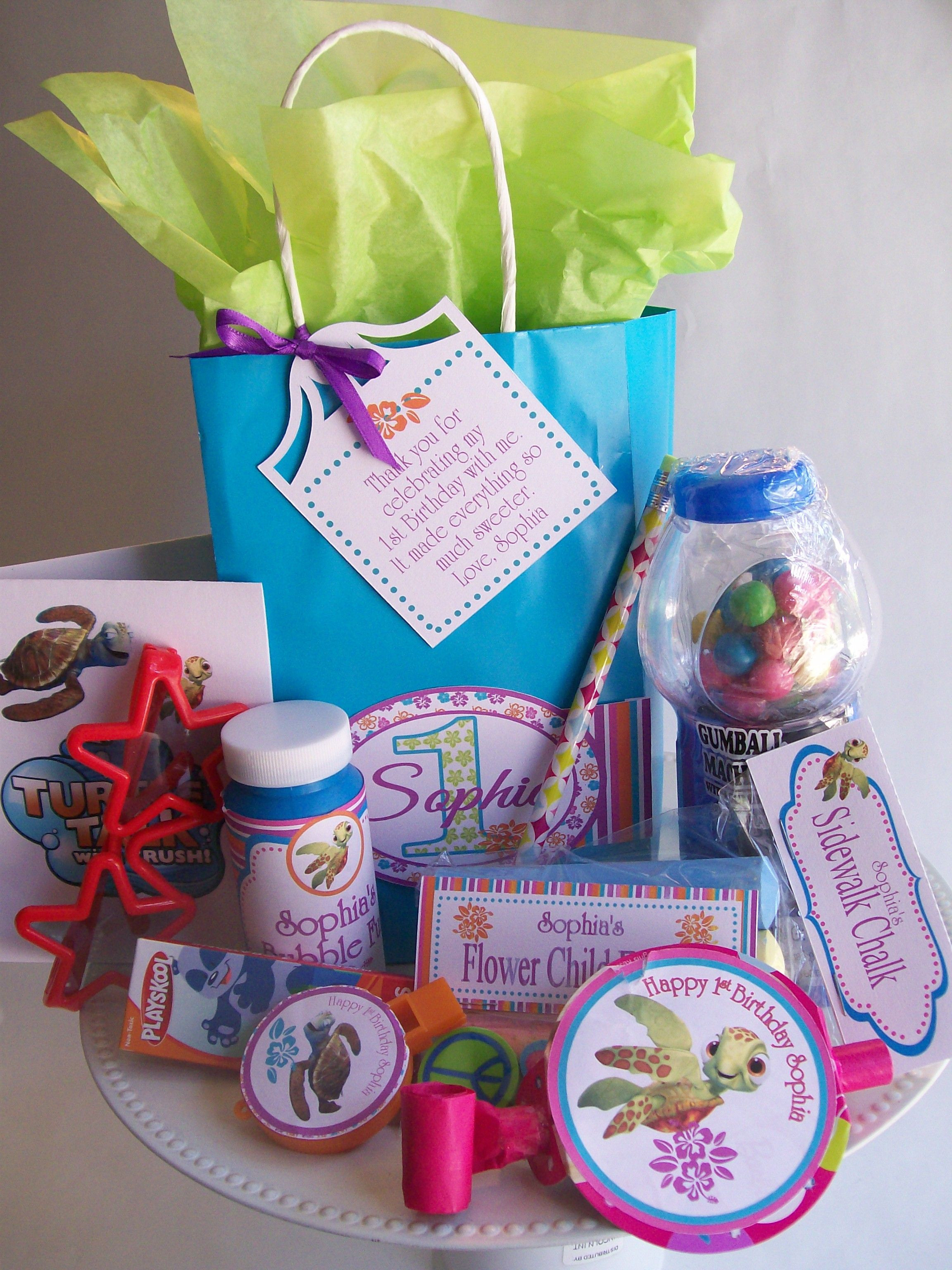 Thank You Gift Bag Ideas  1st Birthday Party Thank you for ing to my party favor