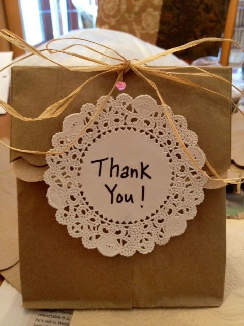 Thank You Gift Bag Ideas  Wedding Shower Wrapping Ideas