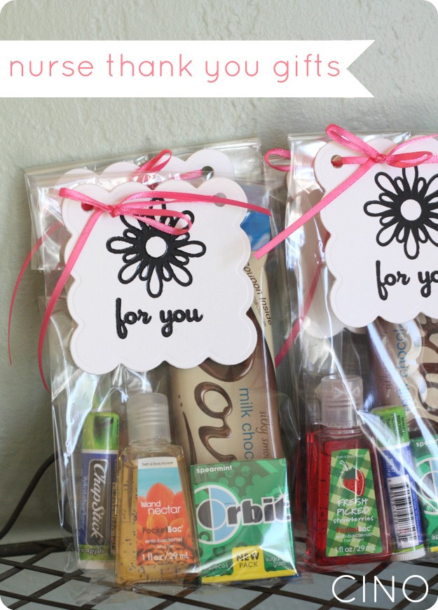 Thank You Gift Bag Ideas  nurse thank you ts