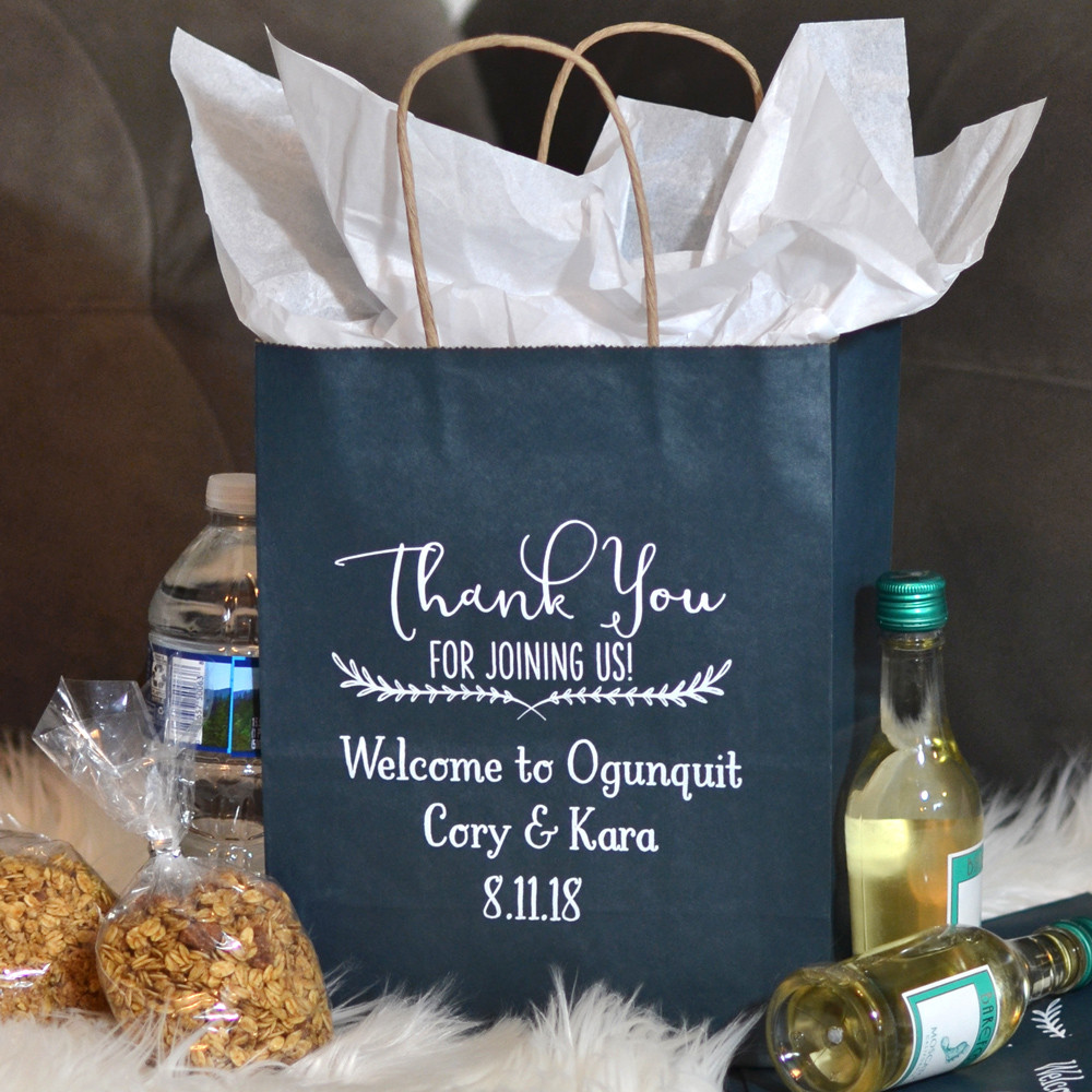 Thank You Gift Bag Ideas  Personalized Hotel Wedding Gift Bags
