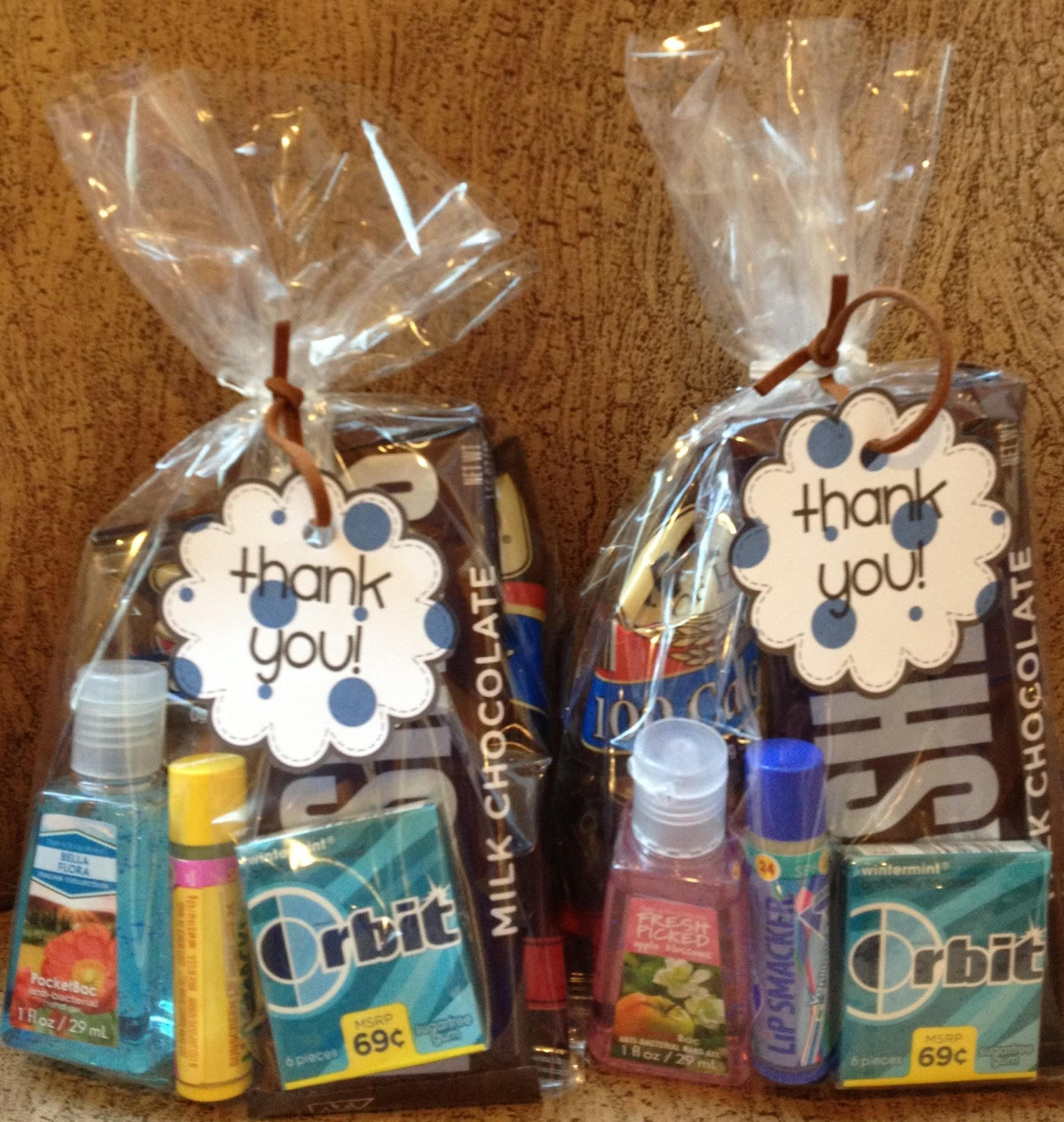 Thank You Gift Bag Ideas  The Pledger Family Nurse Goody Bags