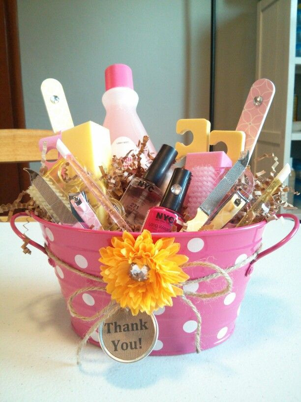 Thank You Gift Basket Ideas  Thank you t for coworker jamberry nails