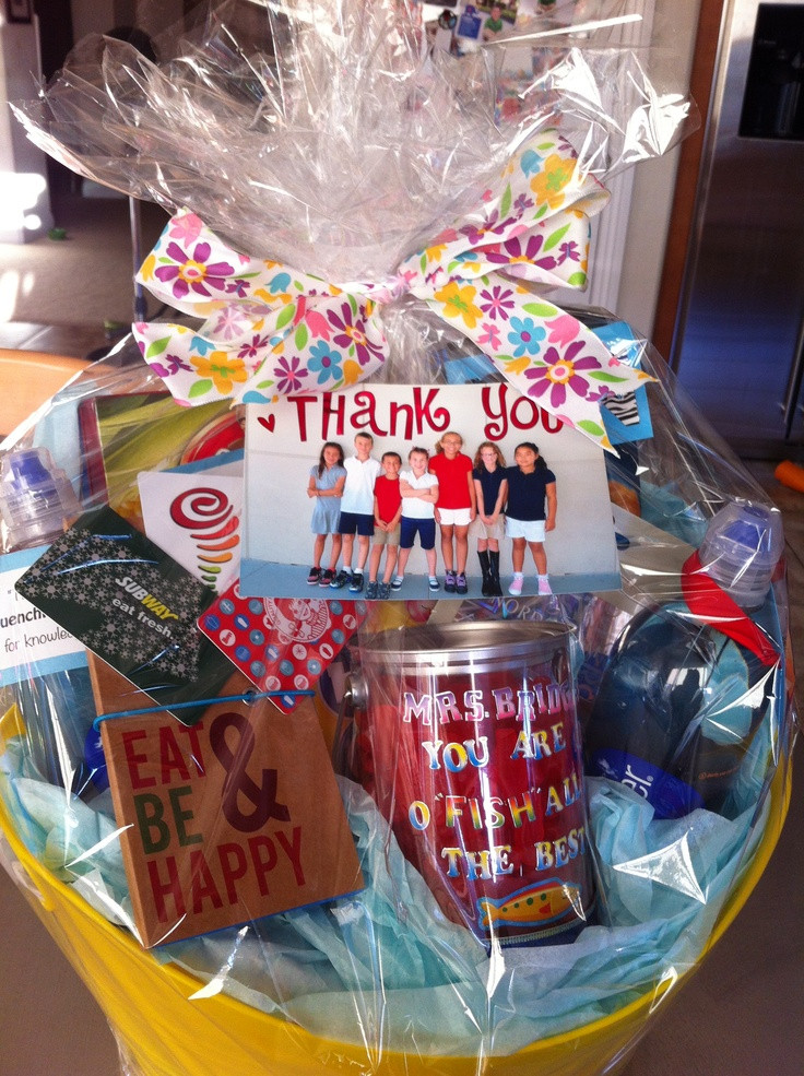 Thank You Gift Basket Ideas  Thank You Basket Gift ideas Pinterest