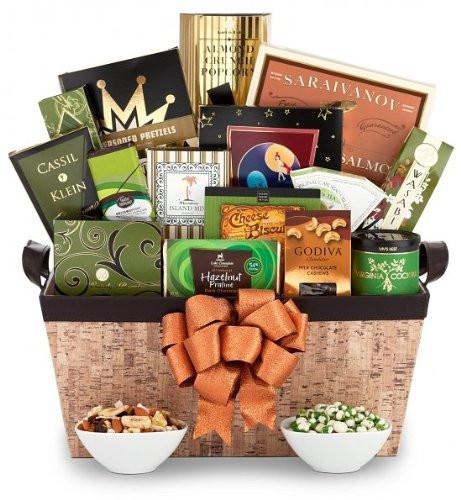 Thank You Gift Basket Ideas  Executive Gourmet Gift Basket Mens Thank You Gift