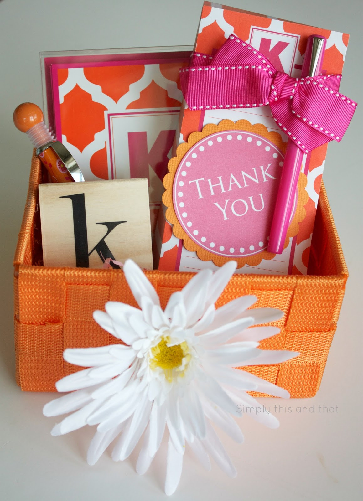Thank You Gift Baskets Ideas  Simply This and that Thank You Basket Printable Tag
