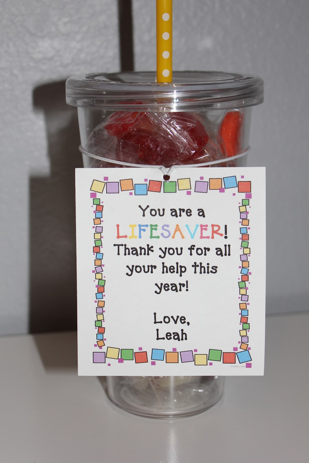 Thank You Gift Ideas  simply made with love End of the Year Gifts