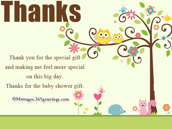 Thank You Gift Ideas For Baby Shower  Baby Shower Thank You Notes 365greetings