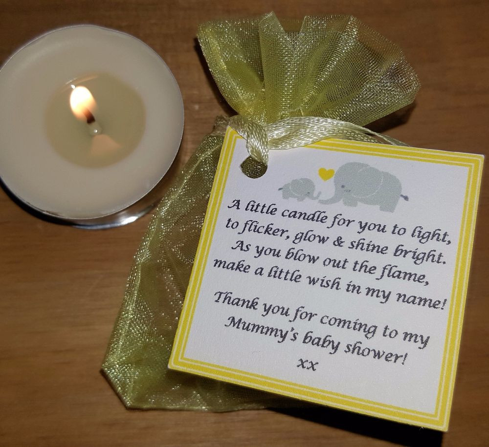 Thank You Gift Ideas For Baby Shower  BABY SHOWER FAVOURS VANILLA CANDLES Can be personalised
