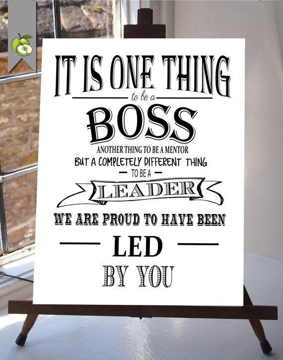 Thank You Gift Ideas For Boss  Boss appreciation day Boss week boss card boss t