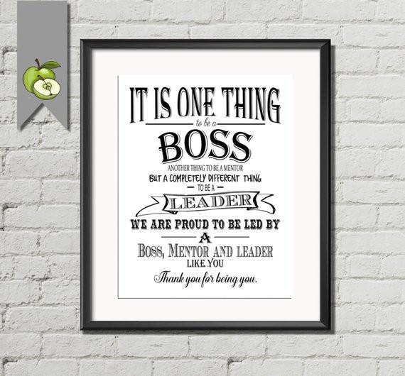 Thank You Gift Ideas For Boss  Boss appreciation day Boss week boss card boss by