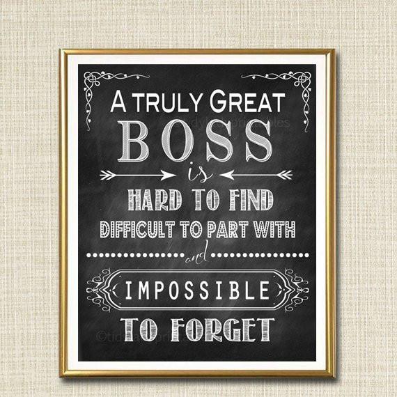 Thank You Gift Ideas For Boss  Boss Retirement Gift Boss s Day Gift Manager Supervisor