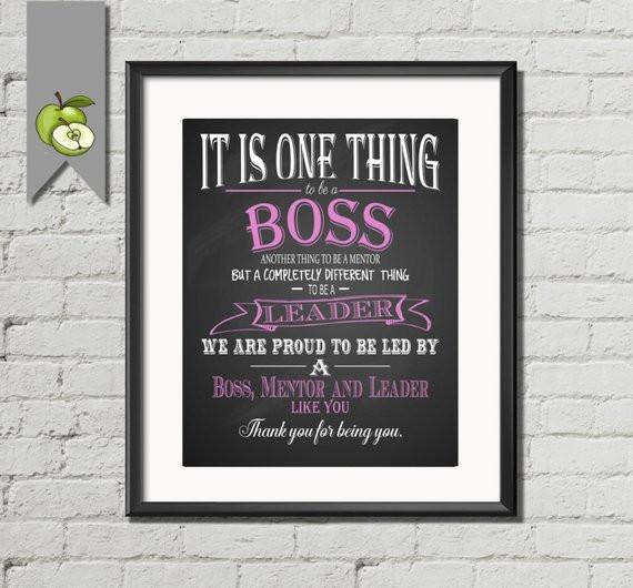 Thank You Gift Ideas For Boss  Boss appreciation t Boss week Boss Day Thank by