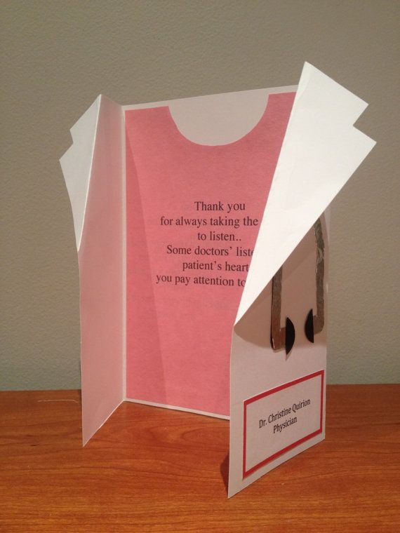 Thank You Gift Ideas For Doctors  Personalize Doctor Coat Thank You Card by DudetteDoodads