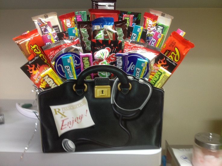 Thank You Gift Ideas For Doctors  Great thank you t for any doctors office Candy Cake