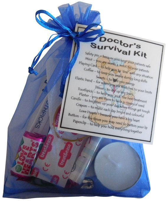 Thank You Gift Ideas For Doctors  Doctor s Survival Kit Great t for Doctor Gift by