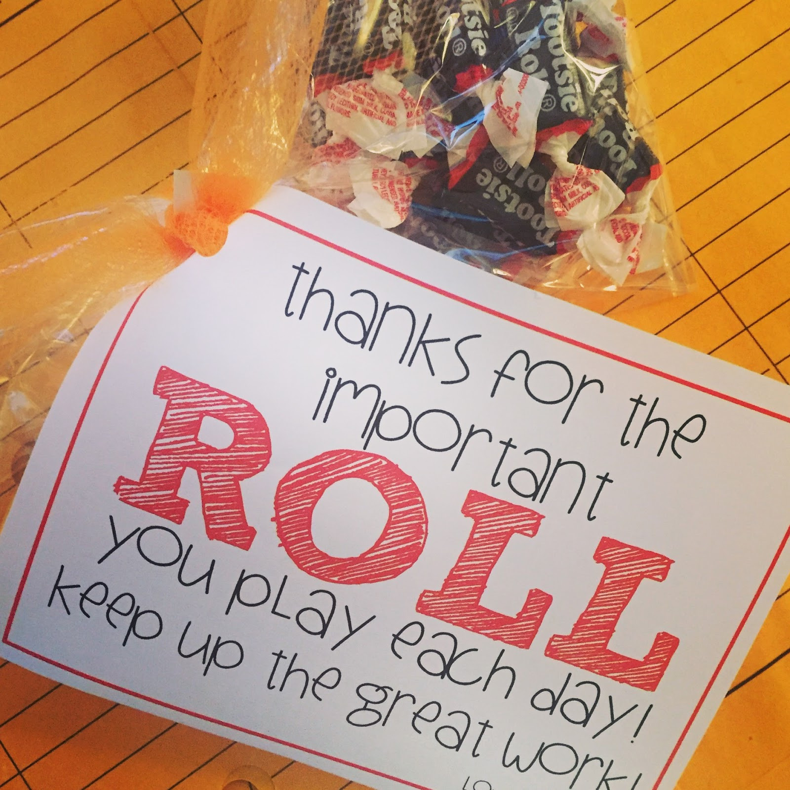 Thank You Gift Ideas For Employees  technology rocks seriously Treat Tags Tootsie Rolls